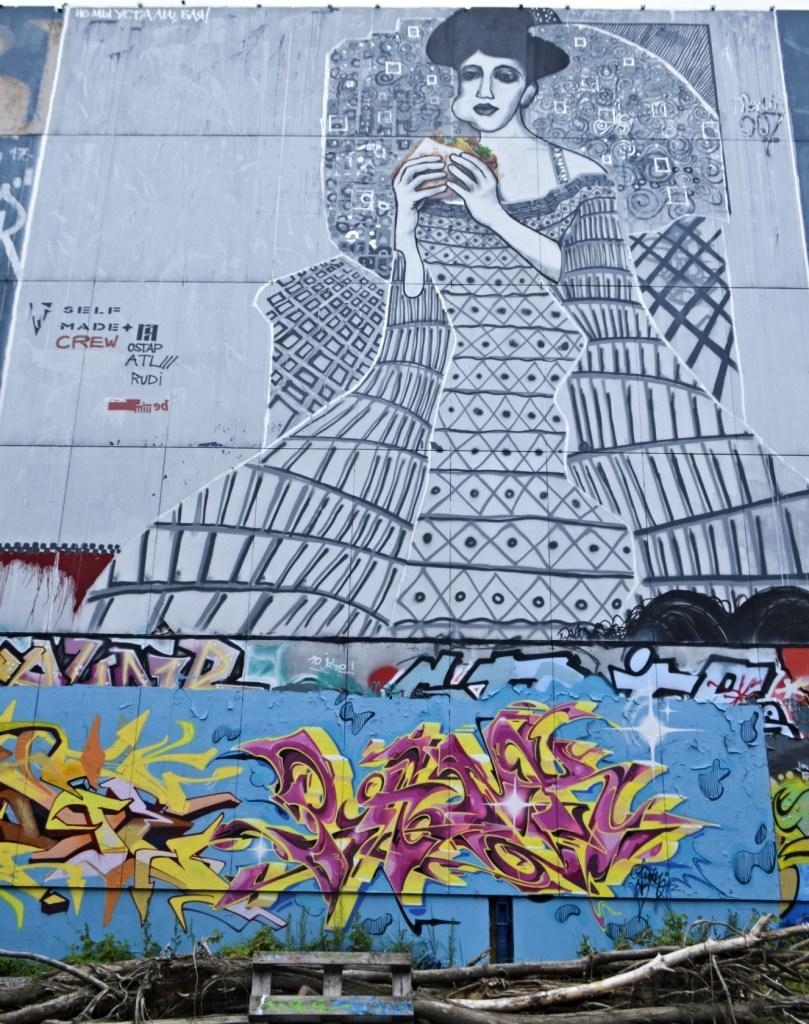 Postcards from Berlin #20 Teufelsberg Klint like Mural Self Made Crew