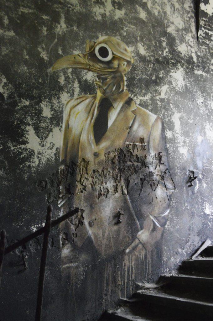 street art from Beelitz-Heilstätten abandoned hospital - bekitschig.blog