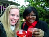 Anita & I at Kensington Roof Gardens