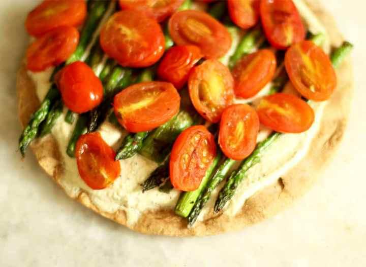 receta de pizza vegana facil