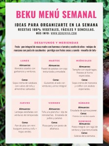menu semanal saludable vegano