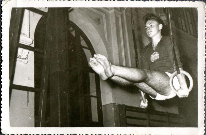Iosif Karda la inele, 1959. Fotografie din arhiva personală