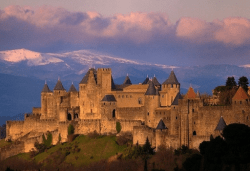 The medieval citadel of Carcassonne, France.