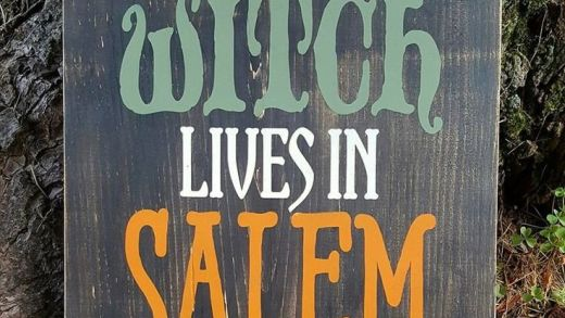 Not Every Witch Lives In Salem wood sign