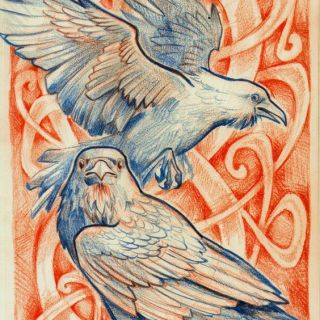 Ravens ... Birds of Power and Mystery have long been associated with ceremonial mythology.