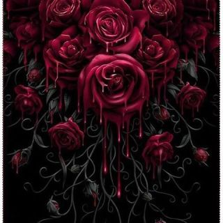 "A beautiful garland of gothic roses to keep you warm during the fall is available at the Inked Shop now. Order your ""Blood Rose"" Fleece Blanket from the link in the bio now. #inkedshop #inked #blanket #roses #bleeding #color #ink #tattoo #fleece"
