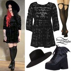 "Ash Costello appears in a promotional video for her new ""Bat Royalty"" collaboration clothing lin ..."