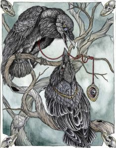 Image result for odins raven illustration