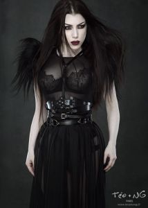 Model: Threnody In Velvet Belts: TEO+NG Shoulder harness by Metamorph Quirky Couture Sheer skirt ...