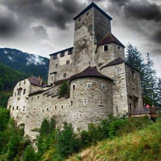 Taufers castle, founded in 1250 by the Lords of Taufers, Italy.