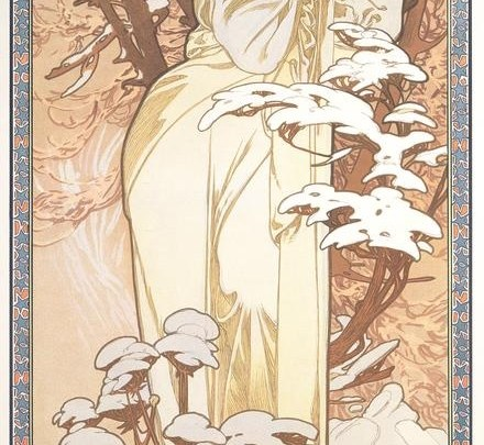 The Seasons: Winter (1900)  Alphonse Mucha