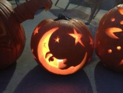 Moon And Stars Pumpkin