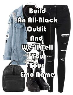 Build An All-Black Outfit And We'll Tell You Your Emo Name