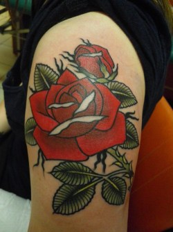 Rose tattoo – Love this linework!