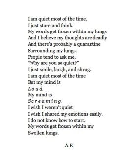 This describes me so perfectly. I absolutely hate how closed off I become in social situations.