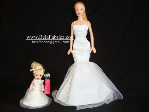 Miniature replica Flower Girl Dress For Barbie