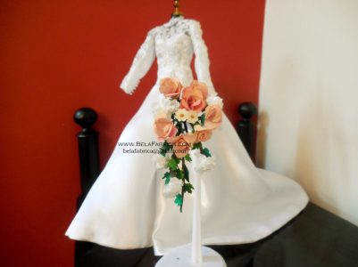 Miniature Cascading Floral Bouquet of your wedding bouquet BY BELAFABRICA