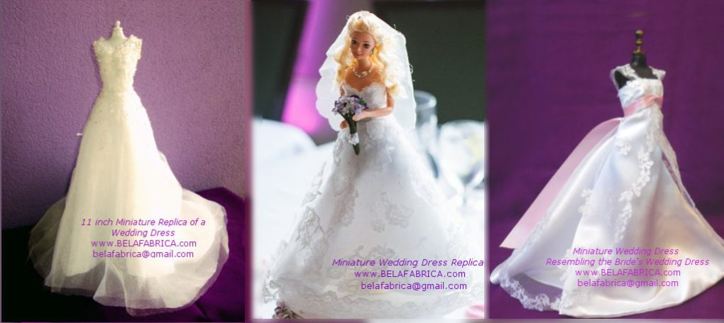 Perfect One Year Anniversary Gift For Your Wife Miniature Replica Wedding Dress