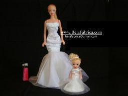 Mini Flower Girl Dress Along With Bride BY BELAFABRICA