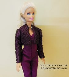 Selena Quintanilla Purple Jumpsuit with jacket miniature replica Side View