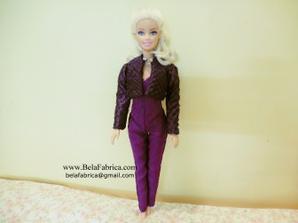 Selena Quintanilla Purple Jumpsuit with jacket miniature replica