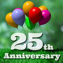 25th Anniversary Balloons