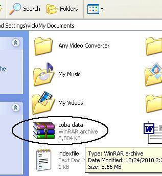 file iso telah muncul dalam folder penyimpanan
