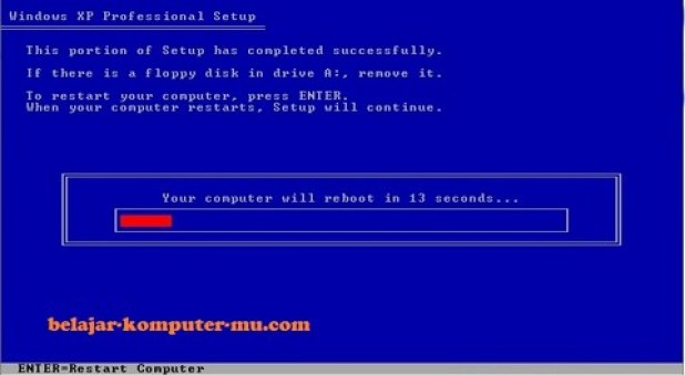 gambar jendela setup restart komputer