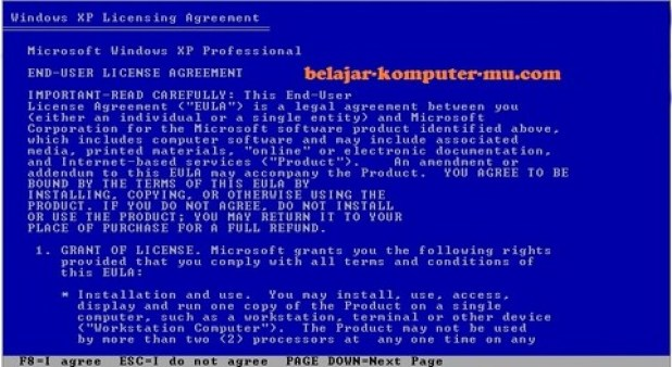 gambar jendela setup license agreement