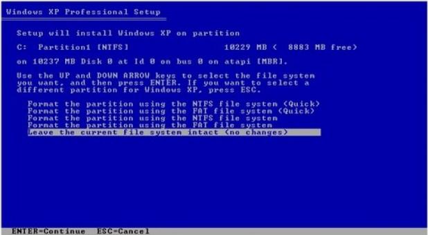 gambar jendela setup format partisi hardisk