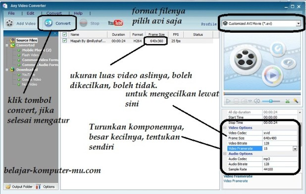 cara mengecilkan ukuran file video 2