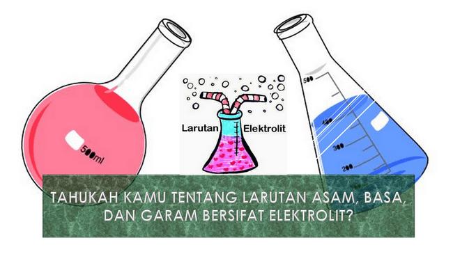 Tahukah Kamu Tentang Larutan Asam, Basa, dan Garam Bersifat Elektrolit?