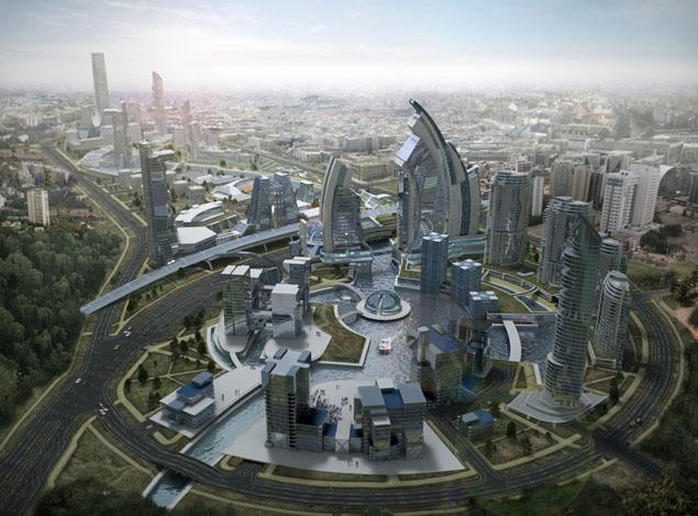 Строительство многофункционального центра «Минск-Мир»