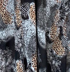 Zoba Set - Black animal print