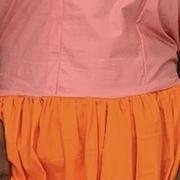 Coco dress - peach and orange