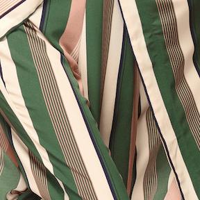 Eno Kimono- Green and Peach Stripe