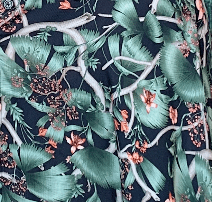 Ozy Set - New black and green floral