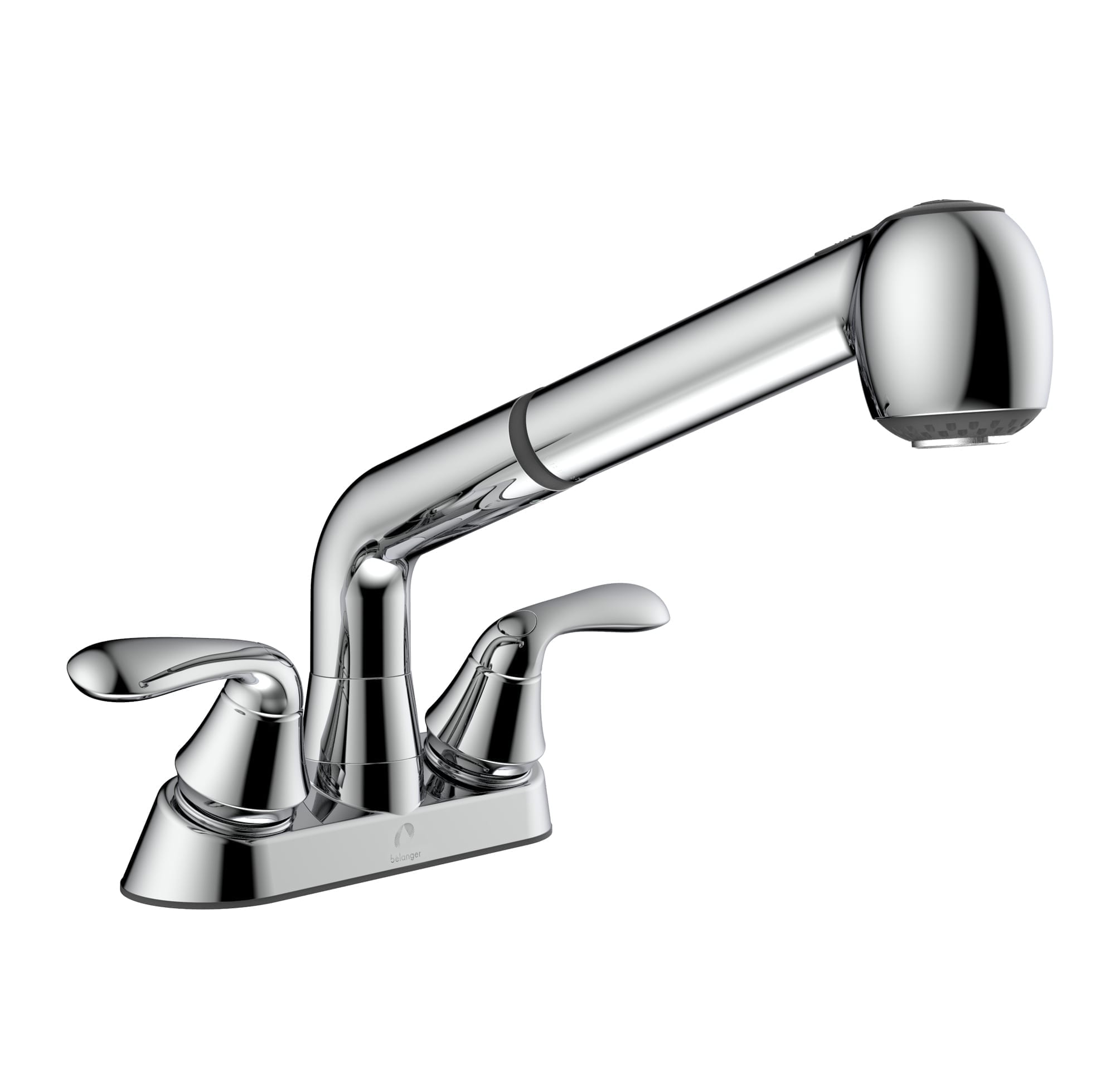 laundry tub faucet with swivel pull out