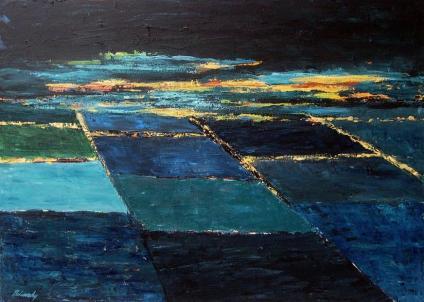 Éjszakai fények, 50 x 70 cm