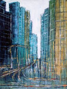 The city in move - 80 x 60 cm