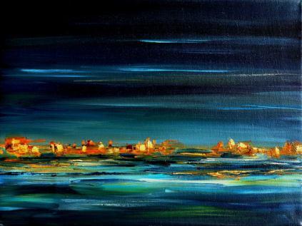 Távoli fények, 30 x 40 cm, Magántulajdon