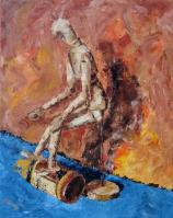 Múzsára várva, 50 x 40 cm, Magántulajdon