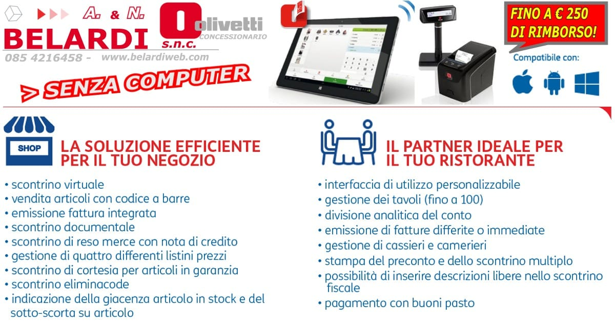 REGISTRATORE DI CASSA TABLET IPAD-scontrinosemplice