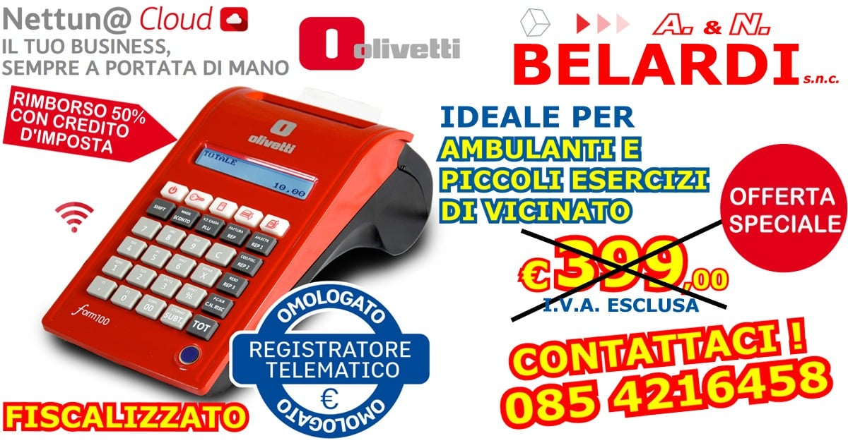 OFFERTA_REGISTRATORE DI CASSA TELEMATICO OLIVETTI_FORM_100