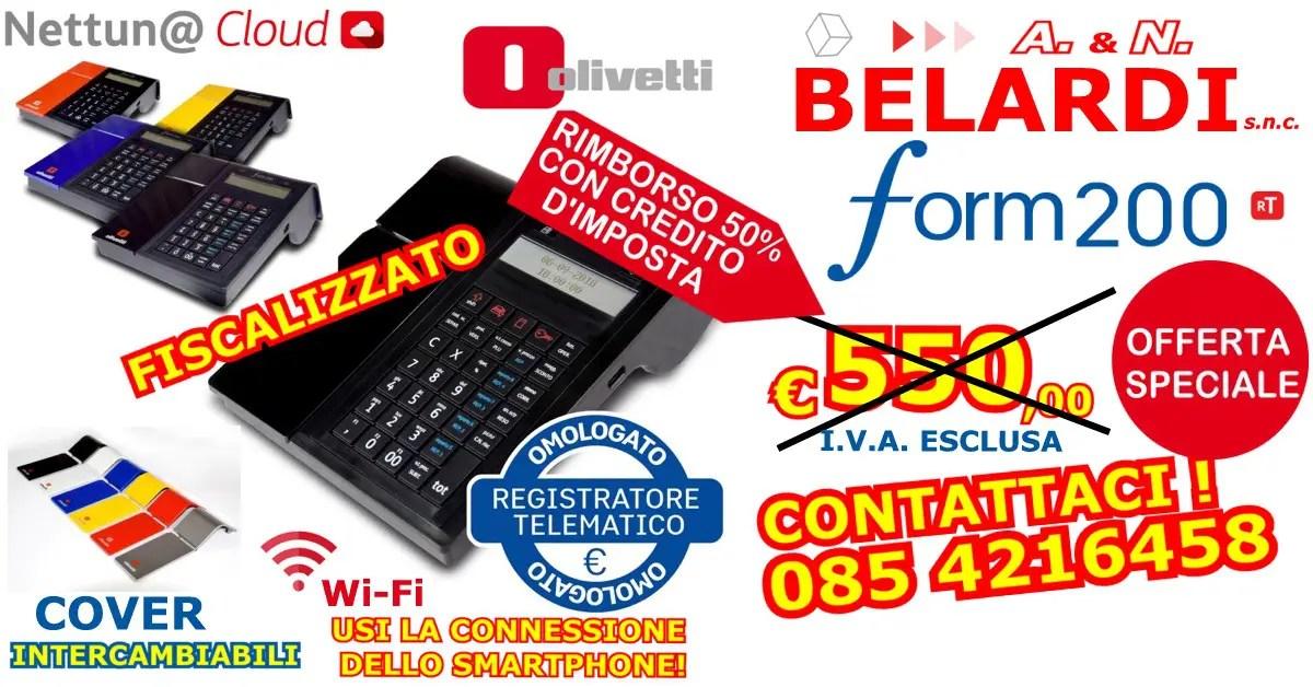OFFERTA-REGISTRATORE-DI-CASSA-TELAMATICO-OLIVETTI-FORM-200-TELEMATICO