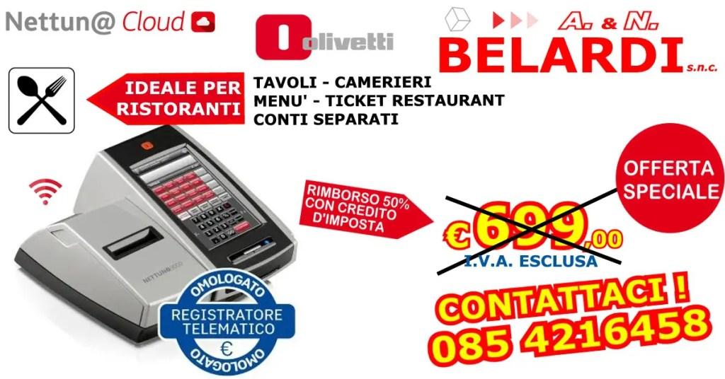 REGISTRATORE DI CASSA TELEMATICO TOUCHSCREEN PER RISTORANTI NETTUNA 3000 RT