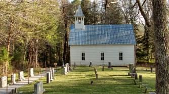Methodist Church with graveyard.