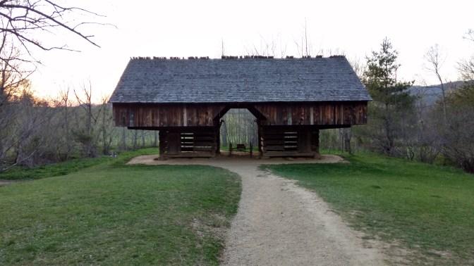 Double cantilever barn.