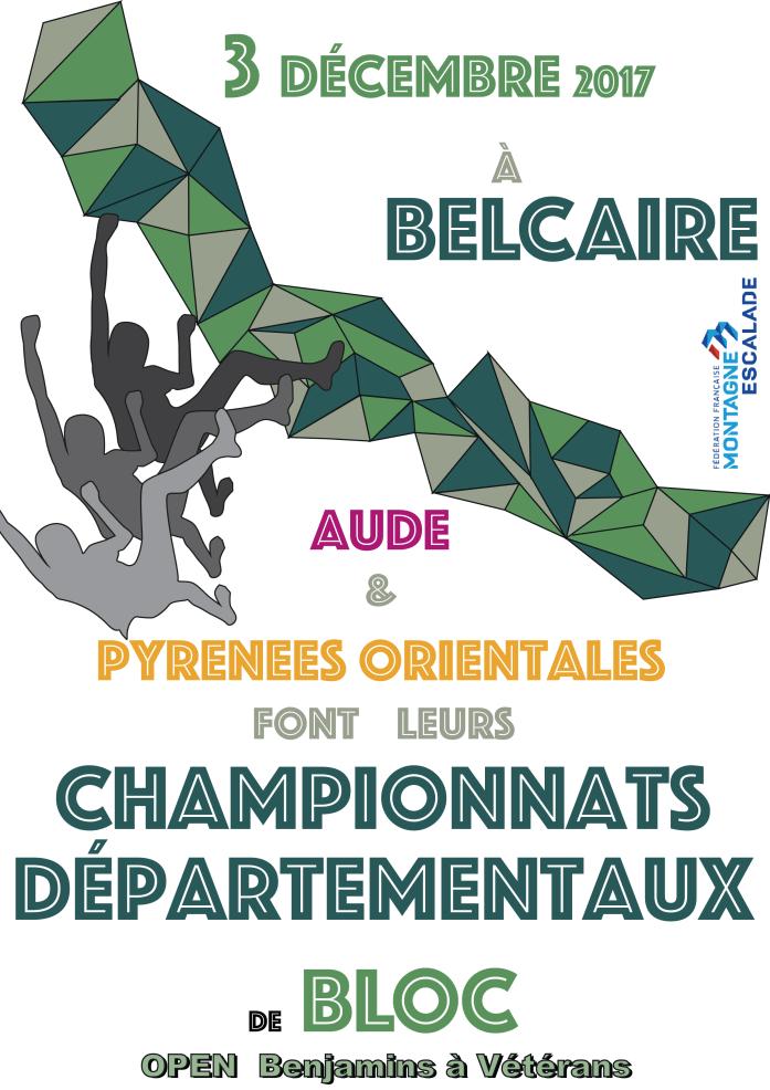 Championnats départementaux de blocs pour l'Aude et les Pyrénées Orientales le 3 décembre 2017 à Belcaire