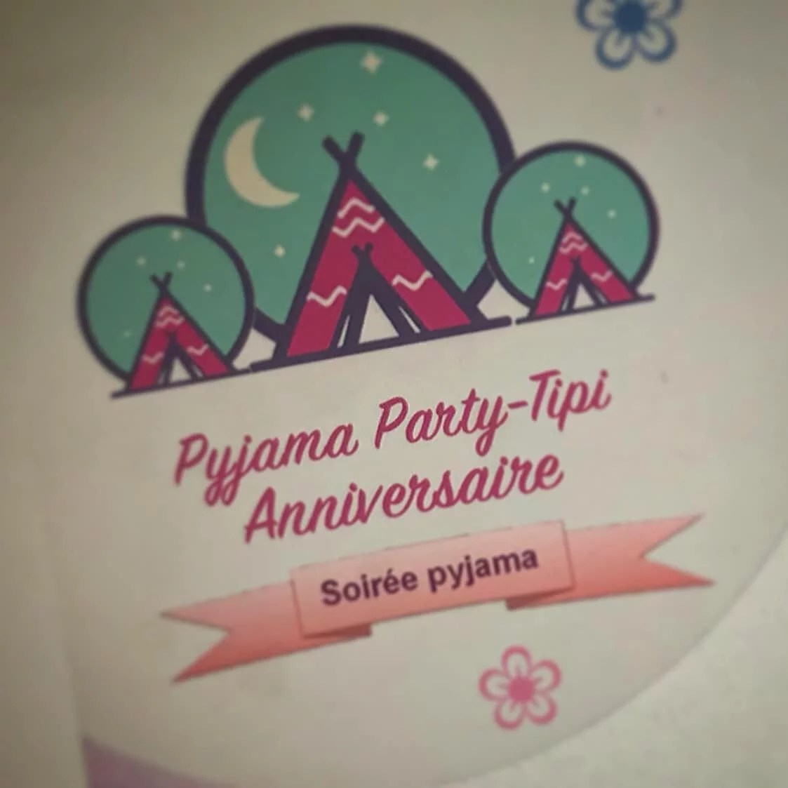 Invitation pijama party